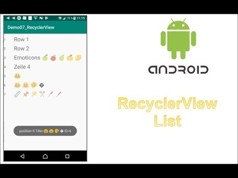 Android RecyclerView : Tutorial with Code Example ✂️