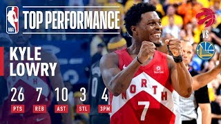 Kyle Lowry Goes For 26 & 10 In Game 6   2019 NBA Finals