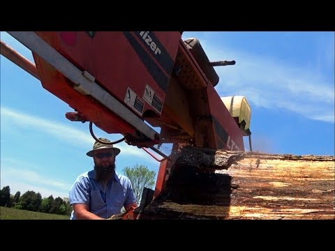 THINKING ABOUT BUYING A SAWMILL? THIS IS A SMALL PART OF A TYPICAL DAY ON MY WOOD-MIZER LT35HD,