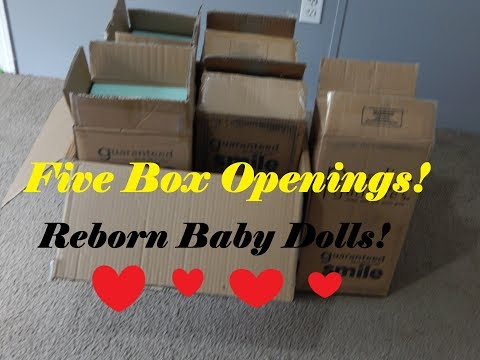 5 New Box Openings Of Reborn Baby Dolls!! WOW!!!