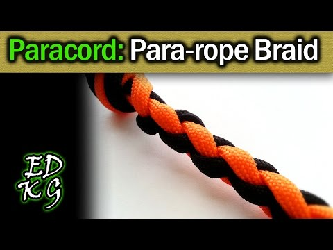 Simple Paracord: Making Rope (4 Strand Round Braid)