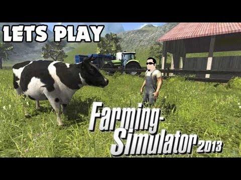 Lets Play - Farming Simulator 2013 - EP 45 - Setting up the Cow Farm