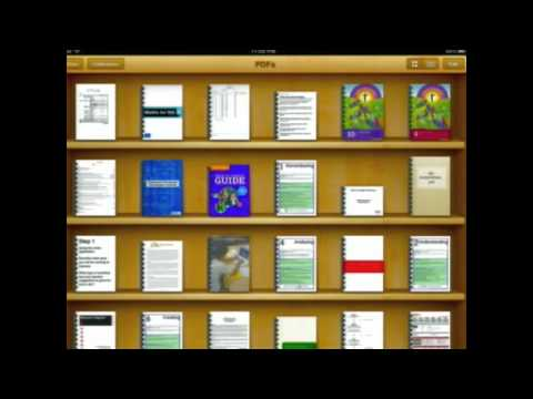 iPads PDFs in iBooks