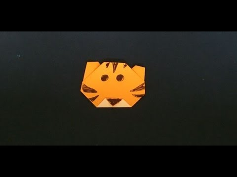 How To Make An Easy Origami Tiger Face