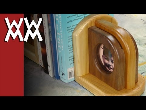 Wood picture frame bookends