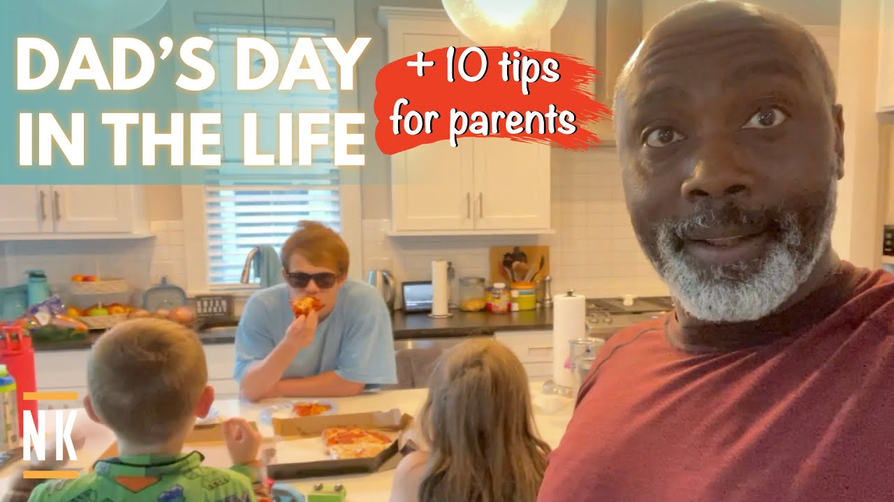 SINGLE DAD DAY IN THE LIFE | FOUR KIDS, TWO DOGS, TEN PARENTING TIPS
