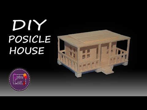 How to Make Easy Popsicle House | Mini Popsicle Stick House | No Cardboard House