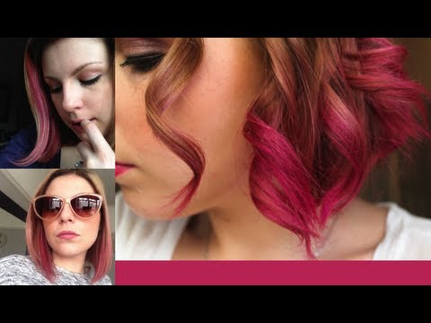 How I Dye My Hair Pink - Streaks & Dip Dye