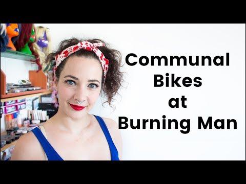 Communal Bikes at Burning Man
