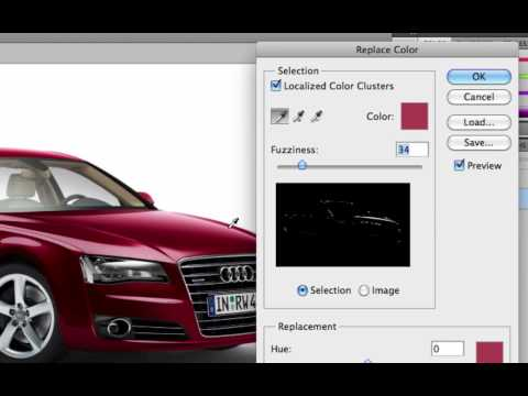Photoshop tutorial: Color replacement.