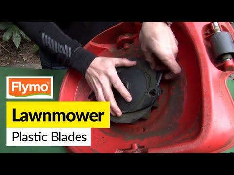 How to replace Flymo plastic blades on a Flymo lawnmower