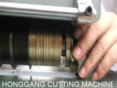 LEATHER STRAP CUTTING MACHINE