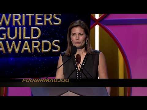 Kerry Washington presents the 2017 WGAW Paul Selvin Award to Confirmation writer Susannah Grant