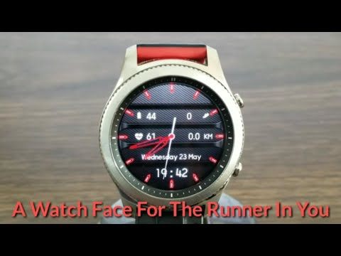 Gear S3 Watch Face For The Runner In You