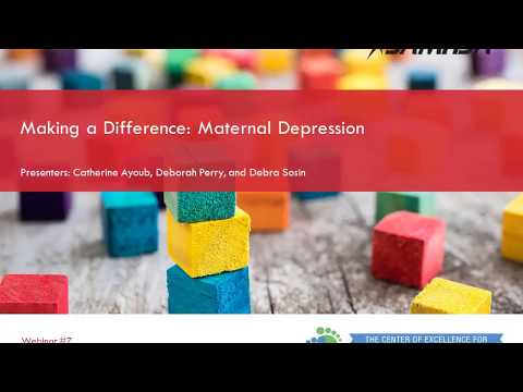 Making a Difference: Maternal Depression