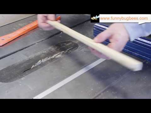 HowTo: Build Langstroth frames with only a table saw pt 1 of 3 - top bars