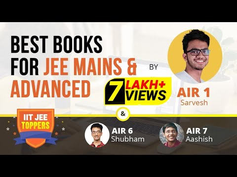 What books to study for IIT JEE Main & Advanced | AIR 1 Sarvesh Mehtani with teachers | Vedantu
