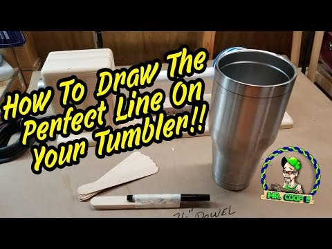 DIY How To Draw The Perfect Line To Tape Your Tumbler