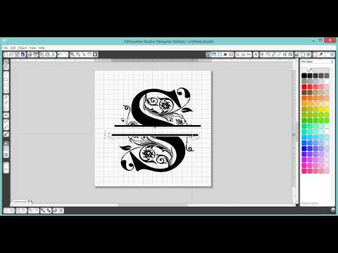 How to make a Split Letter Monogram in Silhouette Studio Software