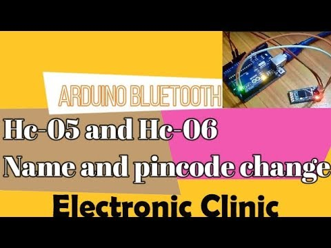 Hc-05   Hc-06 bluetooth Pin Code and Name changing using arduino.   bluetooth module AT commands