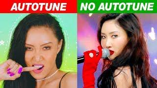 KPOP IDOLS AUTOTUNE VS NO AUTOTUNE (MV vs LIVE!) PART 4