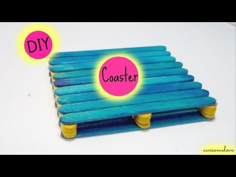 DIY: Coaster with Popsicle Sticks