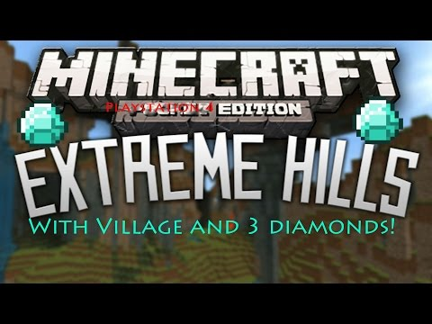 Minecraft PS4 Seed: Super Hills and 3 Diamonds At Spawn!