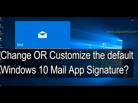 How to change the default Windows 10 Mail App Signature?