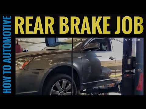 How to Replace Rear Brake Pads and Turn Rotors on a 2005 Toyota Avalon