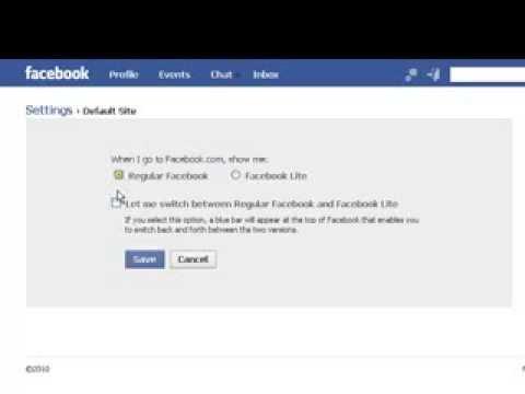 Change Default Site Setting from Facebook Lite to Regular Facebook