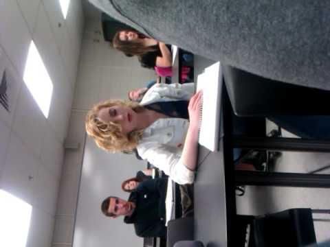 girl falling asleep in my psychology class