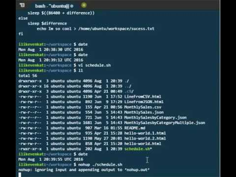 Shell script to schedule job without crontab