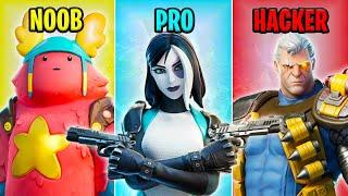 NOOB vs PRO vs HACKER - Fortnite Funny Moments #27