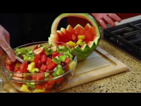 How to Carve a Watermelon Basket