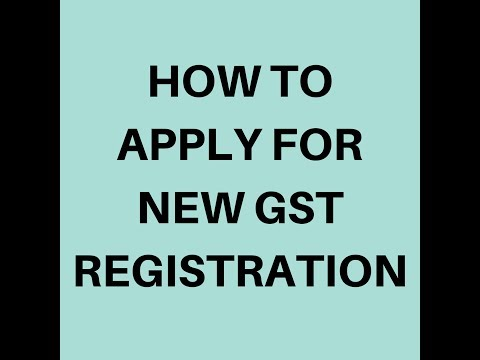 How to apply for new GST registration In India.