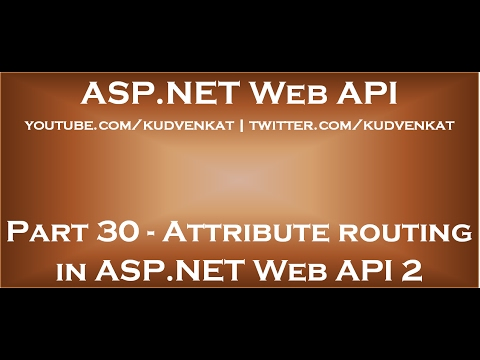 Attribute routing in ASP NET Web API 2
