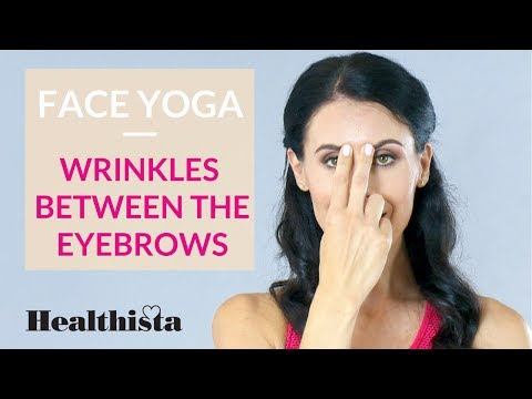 Reduce wrinkles between the eyebrows with this 3 minute face yoga sequence