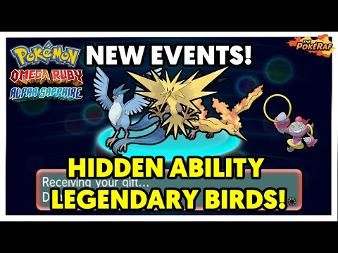 NEW Hidden Ability Legendary Birds & Hoopa Pokémon Events! How To Obtain (Full Details)