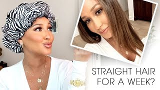 CURLY TO STRAIGHT: How to Style & Maintain Overnight