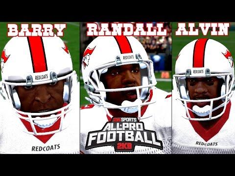 All*Pro Football 2K8 HD - Season 1 Week 1 | Barry, Randall & Alvin Beast'n N Feast'n!
