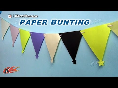 DIY Paper Bunting | Decoration for makar sankranti, Pongal, Birthday | JK Arts 848