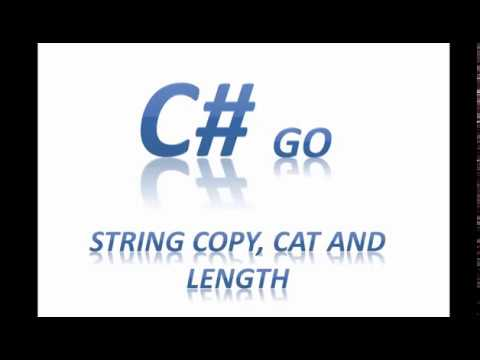 C# String Copy Concat and Length