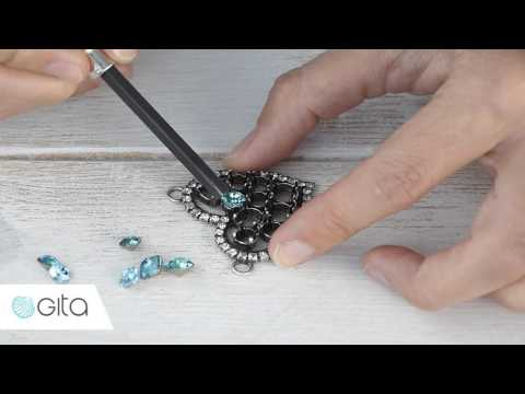 Gita-jewelry School - How to embed crystals