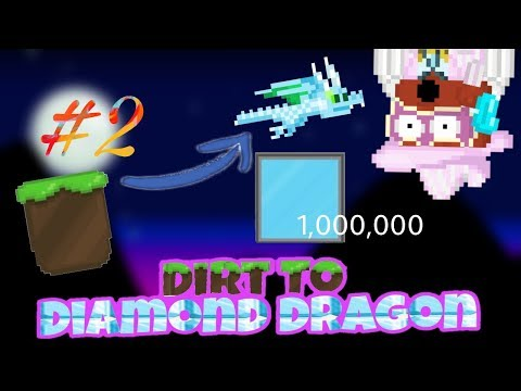 Dirt To Diamond Dragon! Tons Of Fish Tanks and Surgery Packs! Episode #2   Growtopia