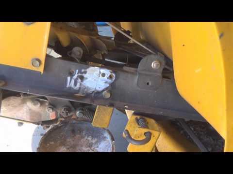 Cub Cadet transaxle flush and refill, frame repair