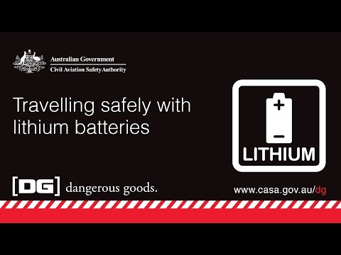 CASA Safety Video - Travelling safely with lithium batteries