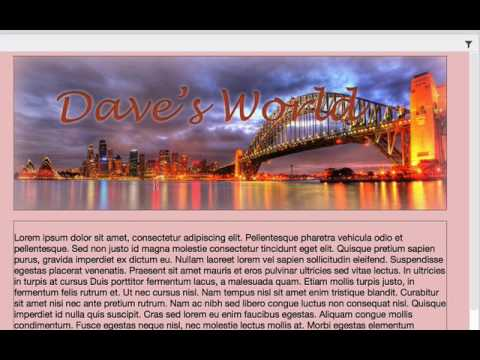 Adding a Background Image in Dreamweaver CC2017