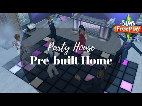 Party House Tour ( PreBuilt House ) | Sims FreePlay