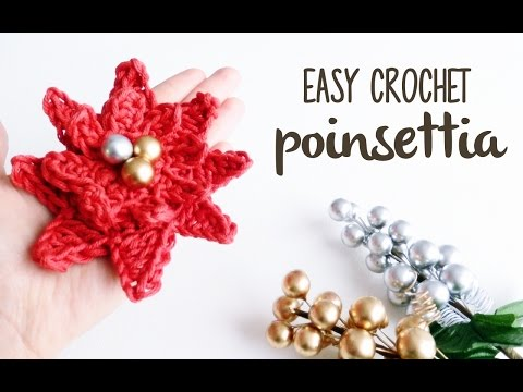How to crochet a POINSETTIA (the christmas flower) ♥ CROCHET LOVERS