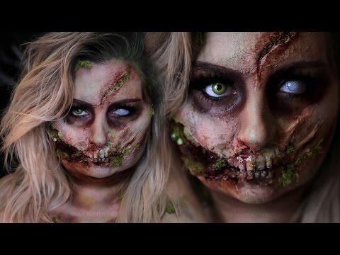 ROTTEN GLAM ZOMBIE | Halloween Costume Makeup Tutorial | 31 Days of Halloween | RawBeautyKristi